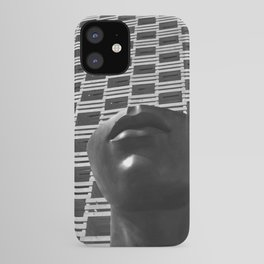 Pieces of You, Stark Modern Architecture and Male Sculpture black and white art photography iPhone Case