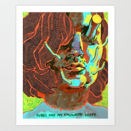 Self Portrait with Tubes Art Print