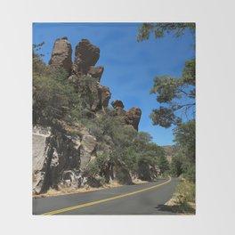 Scenic Bonita Canyon Road Throw Blanket