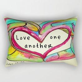 Love One Another John 13:34 Rectangular Pillow