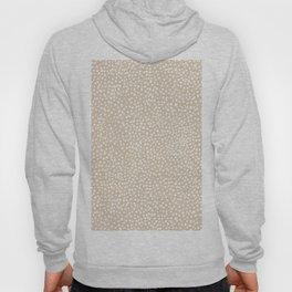 Little wild cheetah spots animal print neutral home trend warm honey yellow beige Hoody