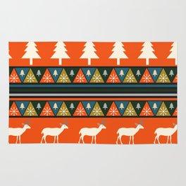 Festive Christmas deer pattern Rug