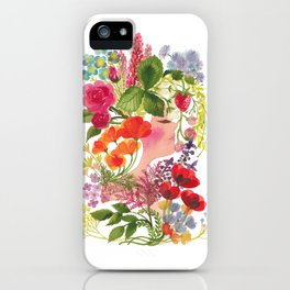 Spring Flowers (White) - ハルの花 iPhone Case
