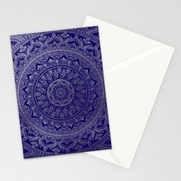 Mandala Royal - Blue & Silver Stationery Cards