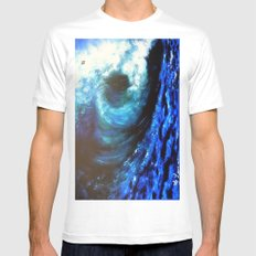 Mesmerizing Waves Mens Fitted Tee MEDIUM White