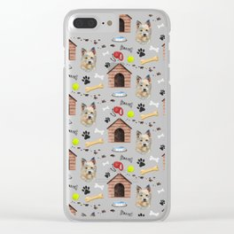 West Highland Terrier Half Drop Repeat Pattern Clear iPhone Case