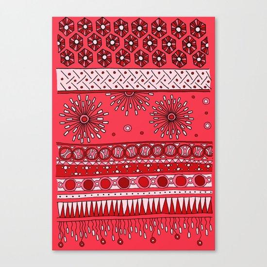 Yzor pattern 007-3 pink Canvas Print