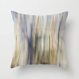 Soft Blue and Gold Abstract Throw Pillow