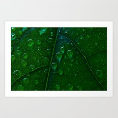 Green Bubbles Art Print