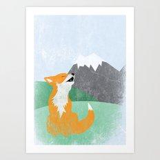 The Wild Fox Art Print