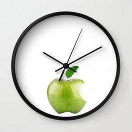 Fresh Green Apple! Beloved Apple! Wall Clock