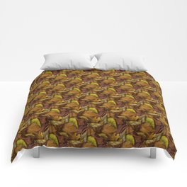 Painted Autumn Leaves Comforters