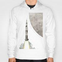 apollo Hoodies featuring Apollo Rocket by WyattDesign