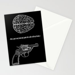 Put a gun to my head... Stationery Cards