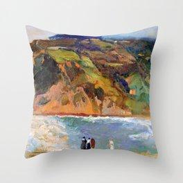 Joaquin Sorolla Shore of San Sebastian Throw Pillow