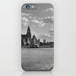 Liverpool Skyline Mono iPhone Case