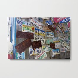 Cars registrations Metal Print