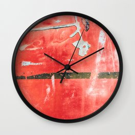 Etched Scratchings of a Mad Red Monk Wall Clock