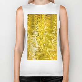 Golden Reflection on Surface Of Lake #decor #society6 #buyart Biker Tank