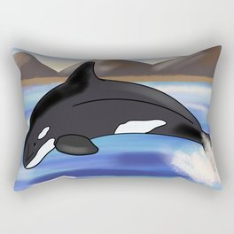 Orca Ocean Rectangular Pillow
