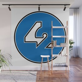 42 - Blue Wall Mural
