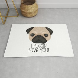 I Puggin' Love You! Rug