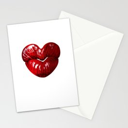 Heart Shaped Lips Stationery Cards