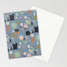 Lunar Pattern: Blue Moon Stationery Cards