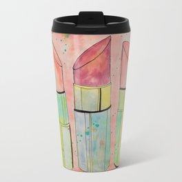 Lipstick Splatter Travel Mug