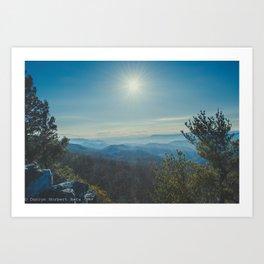 Valley Overlook Art Print