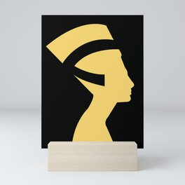 -BEQUEEN IN GOLD Mini Art Print