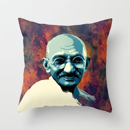 Mahatma Gandhi  Throw Pillow