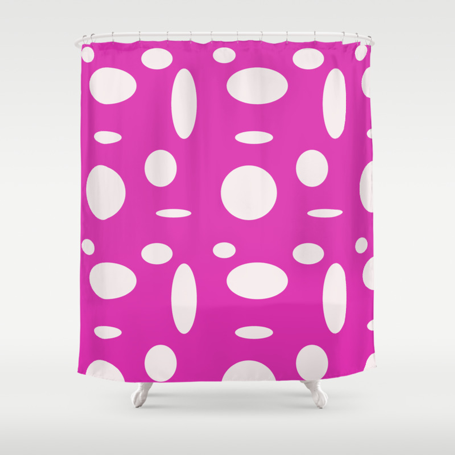 Pink Polka Dot Shower Curtain By Beachstudio Society6
