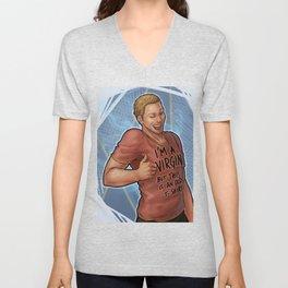 """Douchebag t-shirt"" Alistair Unisex V-Neck"