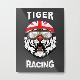Tiger Racing Metal Print