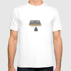 Retro Gaming - Atari SMALL White Mens Fitted Tee