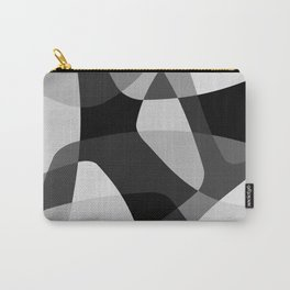 Mid Century Modern Abstract Rock Layers Charcoal Carry-All Pouch