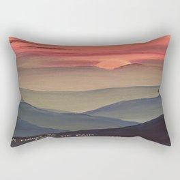 Sunset Cross Landscape Rectangular Pillow