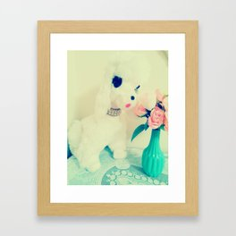 smell the flowers Framed Art Print