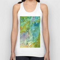 stained glass Tank Tops featuring Stained Glass by Rosie Brown