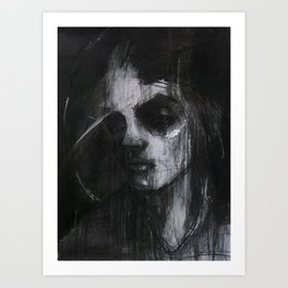 Portrai of girl Art Print
