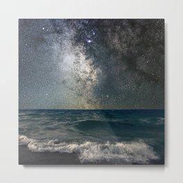 Milky Way Over The Sea Metal Print