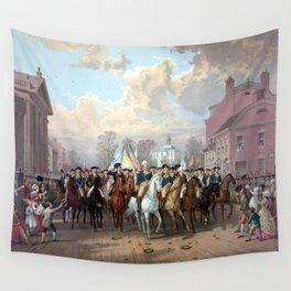 General Washington Enters New York Wall Tapestry