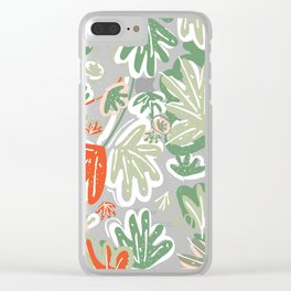 Tropical Abstract Pattern Clear iPhone Case