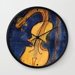 Surrealist violin Wall Clock