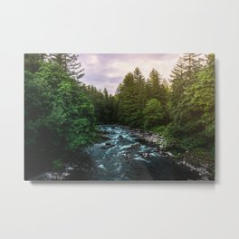 PNW River Run II - Pacific Northwest Nature Photography Metal Print