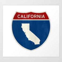 Welcome to California Art Print