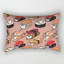 Sushi Shiba Inu Rectangular Pillow