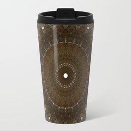 Mandala in different brown tones Travel Mug