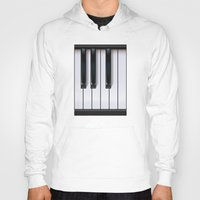 piano Hoodies featuring Piano by rob art | illustration